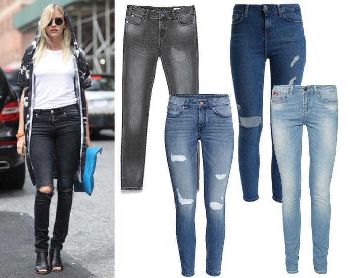 тона джинсов
