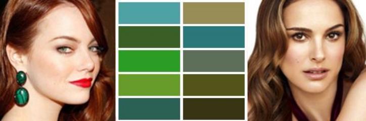 зеленый цвет осень цветотип женщин