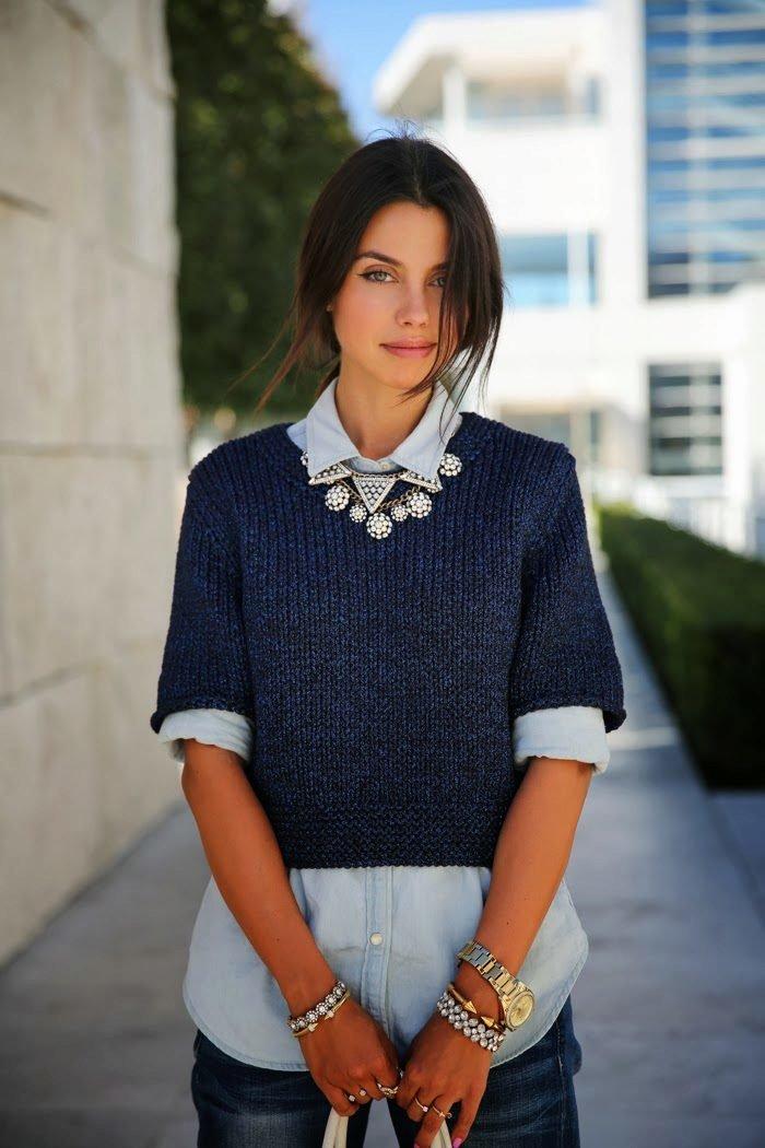свитер с коротким рукавом