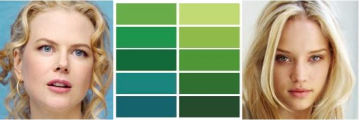 зеленый цвет весна цветотип женщин