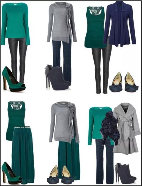сочетание серый и зеленый цвет образы