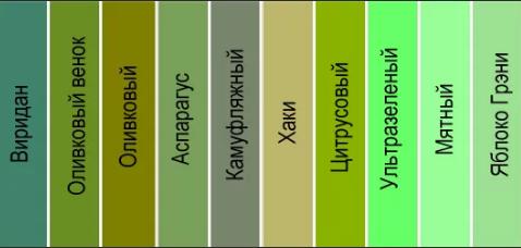 зеленый оттенки 2