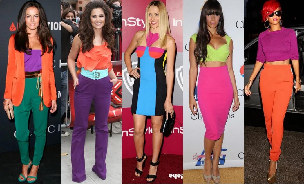 несочетаемые цвета в одежде