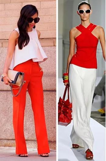 красный и белый цвет