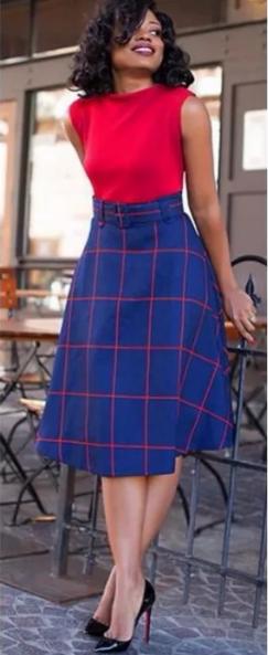 деловой стиль красный и синий в одежде сочетать
