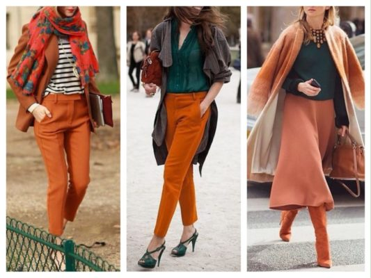 Терракотовый цвет сочетание в одежде
