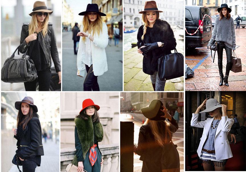 Различные виды шляп на девушках