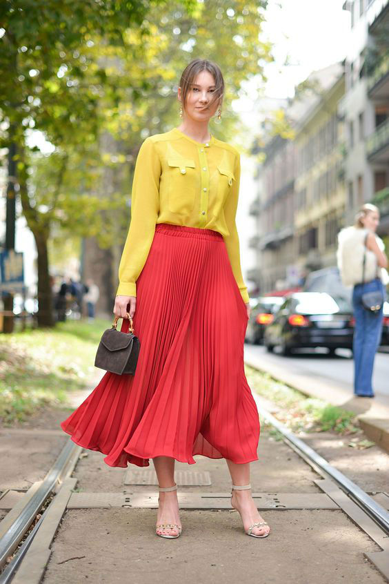 yellow-red outfit