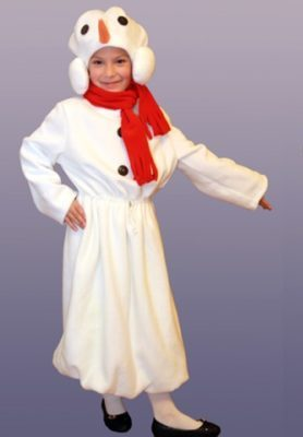 костюм снеговика из халата