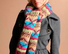 Что делать, если вязаный шарф скрутился в трубочку