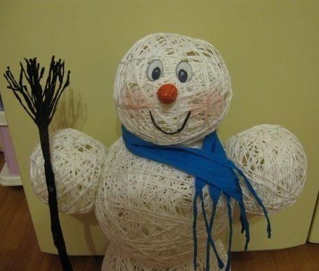 костюм снеговик из ниток