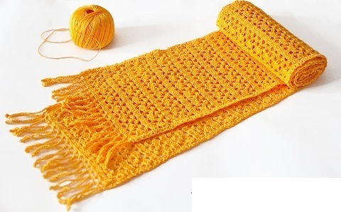 обвязанный шарф