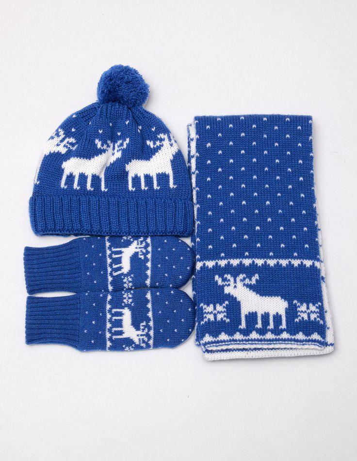 шарф, шапка и варежки