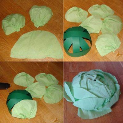 Шапка для костюма капусты
