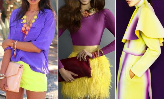 желто-фиолетовые аутфиты