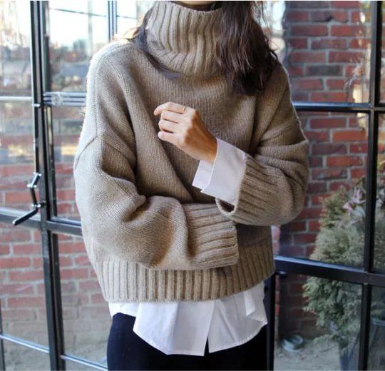 свитер на блузку
