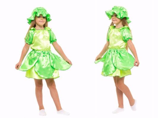 Костюм капусты для девочки своими руками