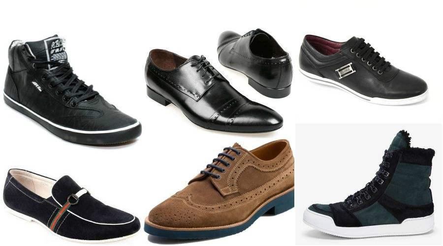 Различные мужские ботинки