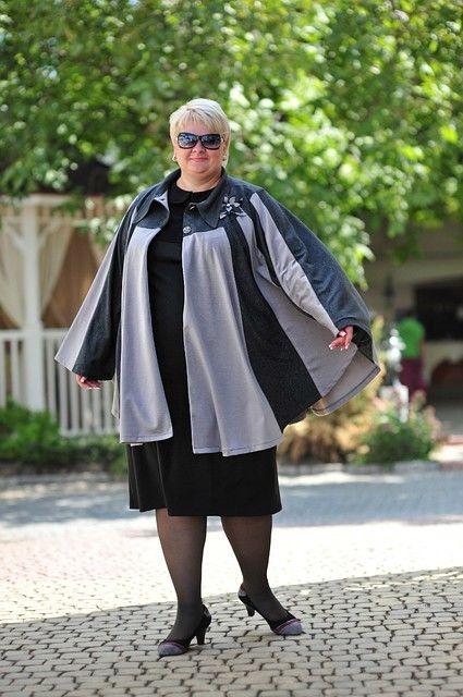 Как носить пончо полной женщине