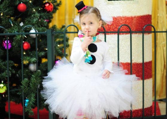 Костюм снеговика из платья