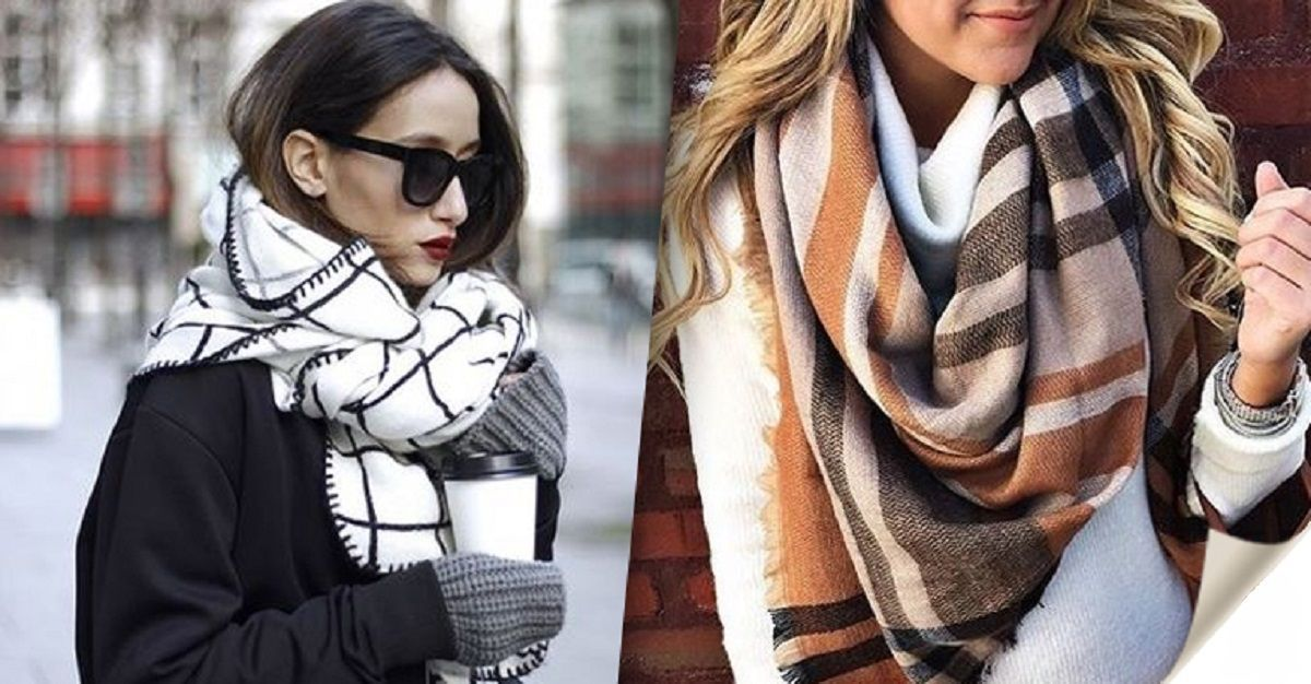Как модно носить шарф в 2019 году