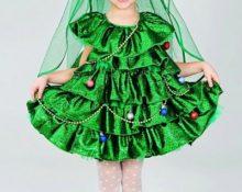 Платье-ёлочка для девочки своими руками