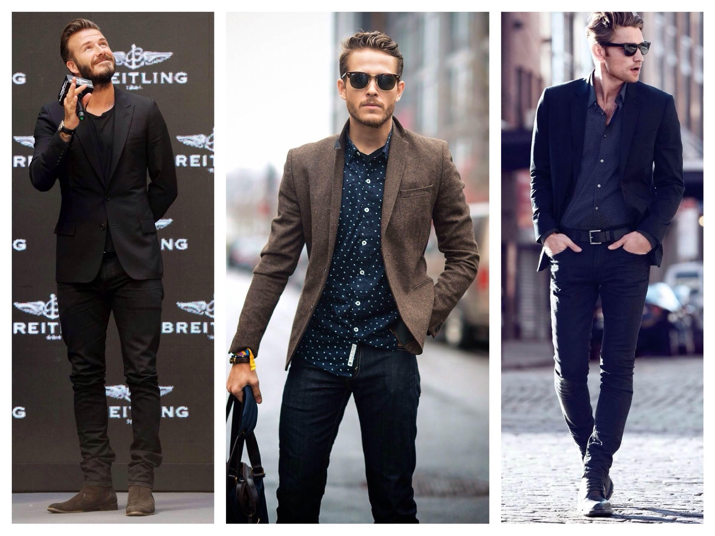комплекты джинсы и пиджак