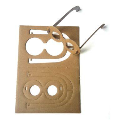 Как сделать очки из картона