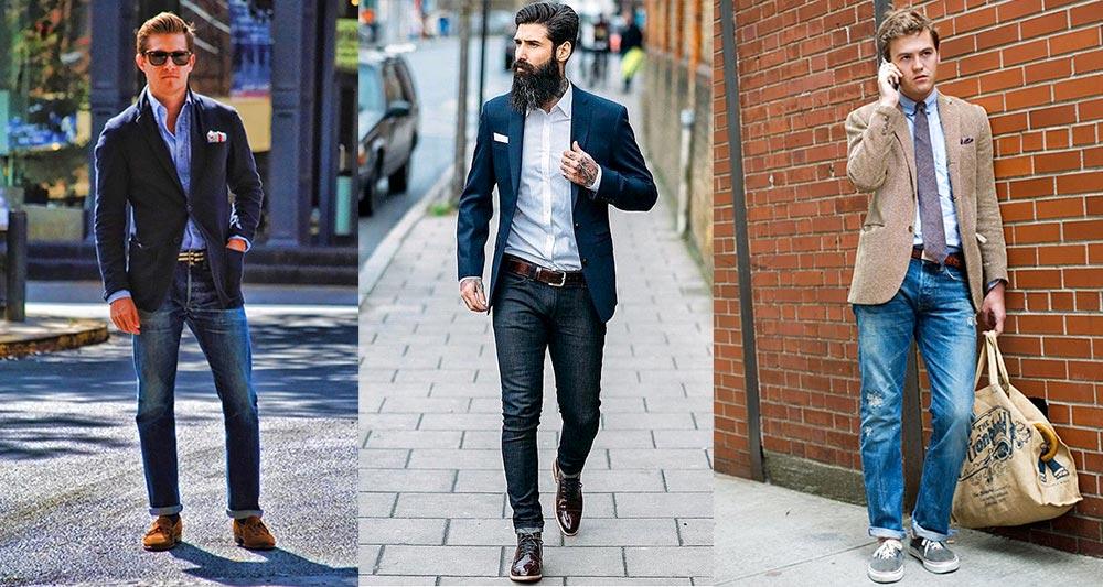 джинсы с пиджаком - комбинирование