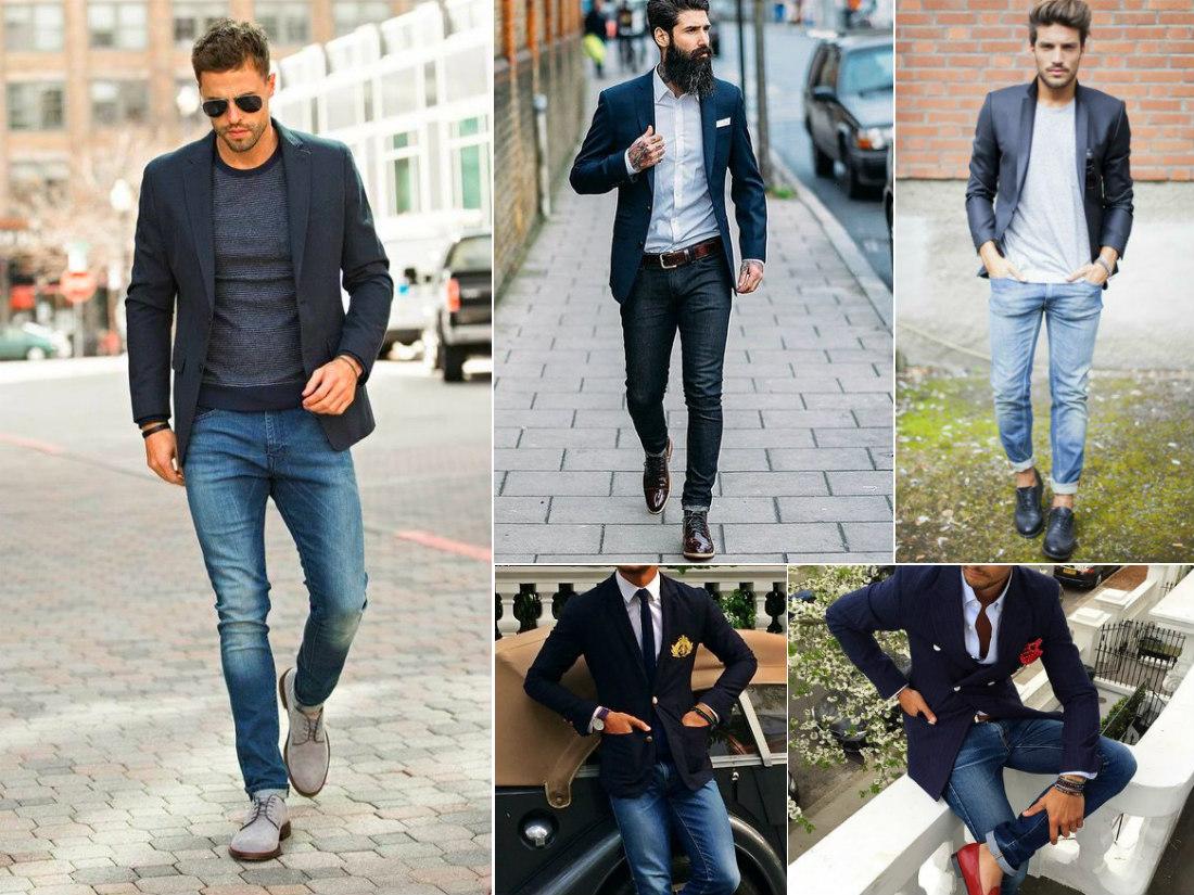 аутфиты джинсы пиджак