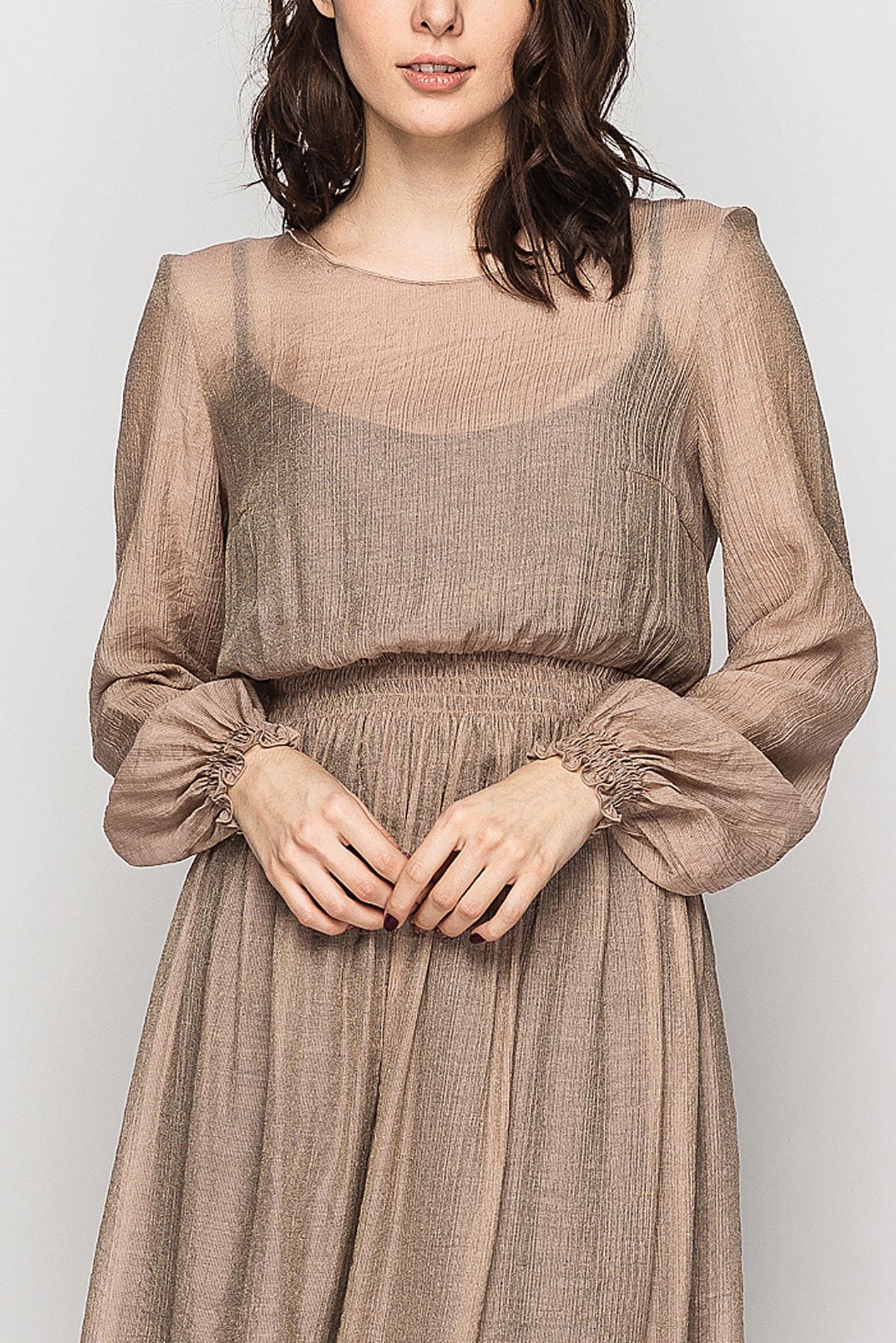 платье из крепа жатки