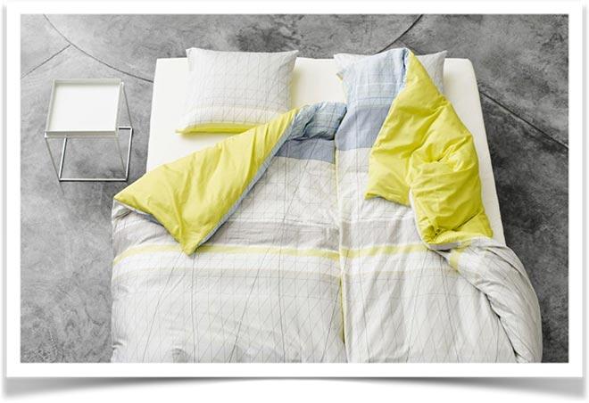 серо-желтое постельное
