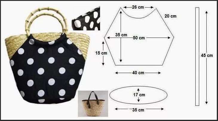 выкройка 3 пляжной сумки