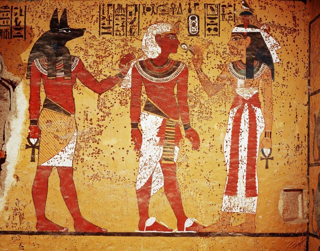 Изображения древних египтян.