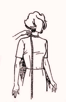 мерки шеи и длины накидки