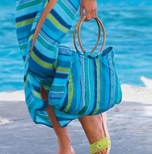 пляжные сумки в тон туники