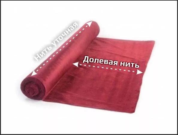 ткань долевая нить
