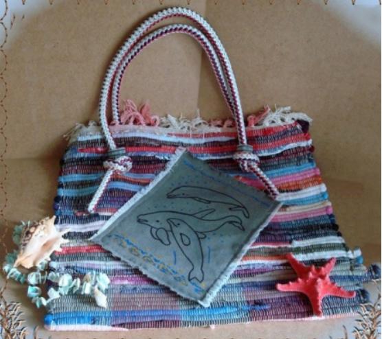 пляжные сумки из коврика