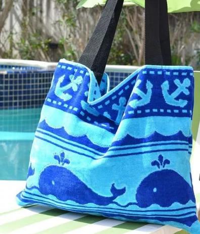 пляжные сумки из полотенца
