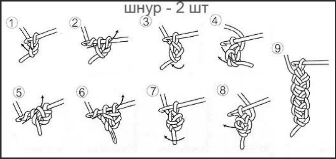 как связать шнурок гусеничка пошагово