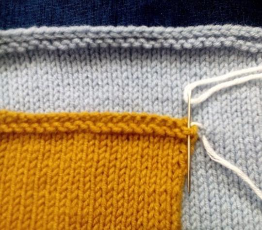 этап пришивания кармана