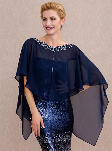 накидка на платье сложной формы