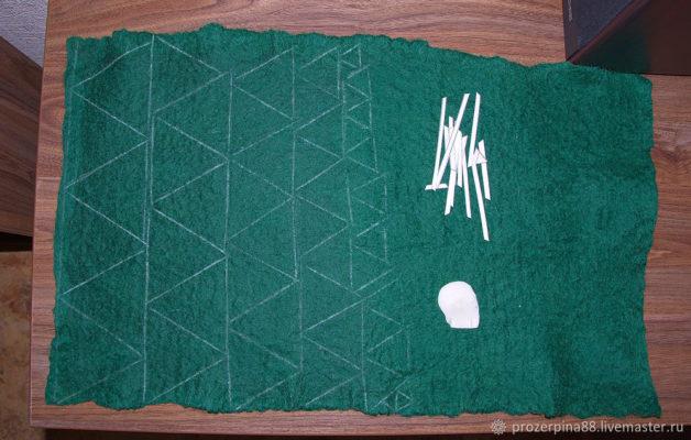 Ёлка из шерсти для валяния