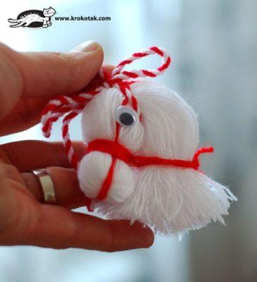 Ёлочные игрушки из шерстяных ниток своими руками