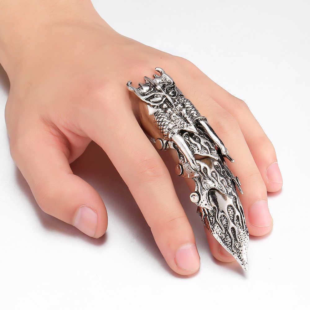 кольцо на весь палец рок стиль