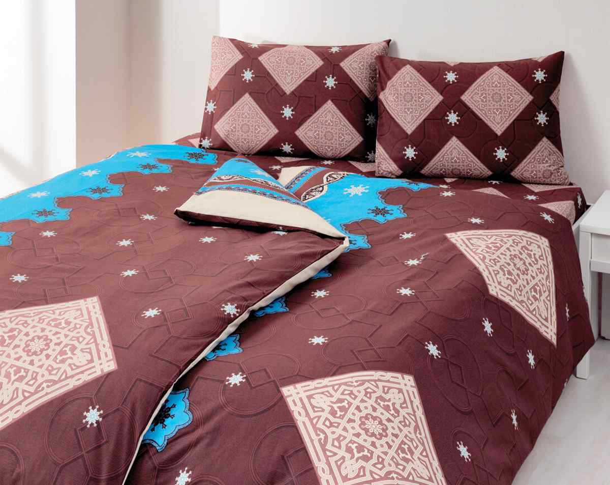 коричневое постельное