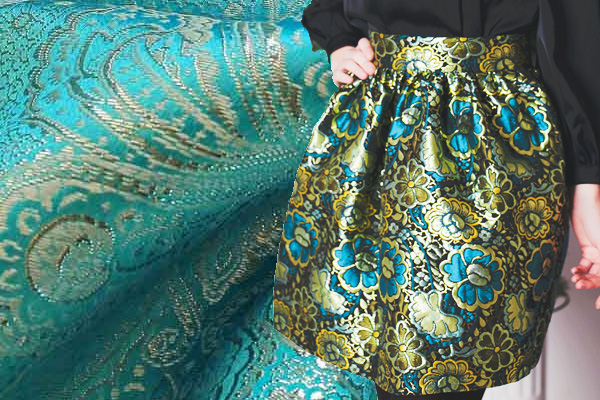 юбка из парчи