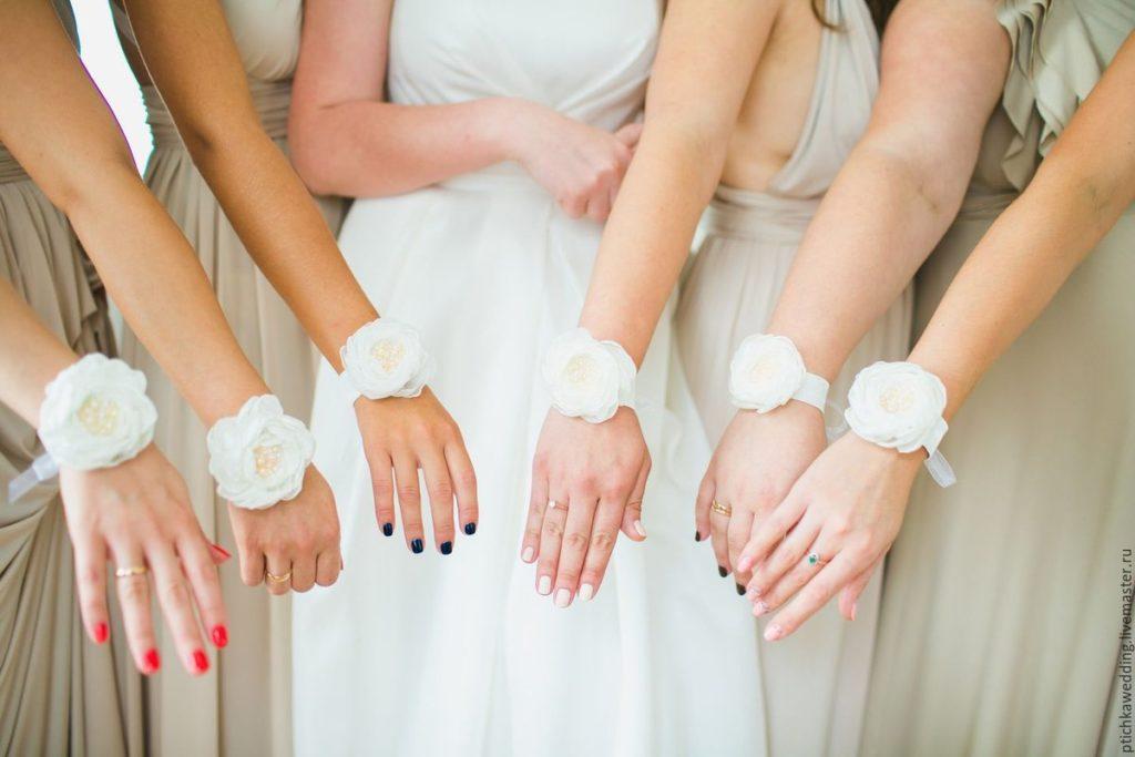 Как сделать браслет для подружек невесты самой 3