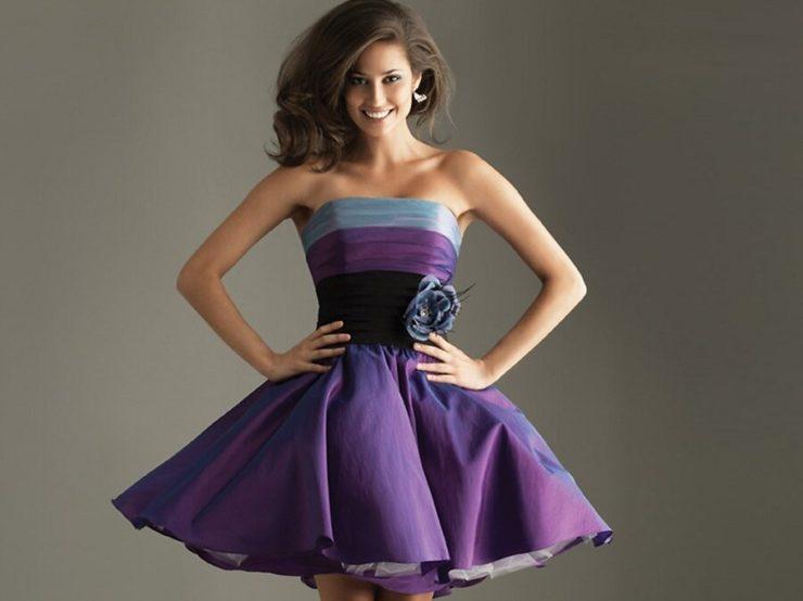 короткое платье из тафты