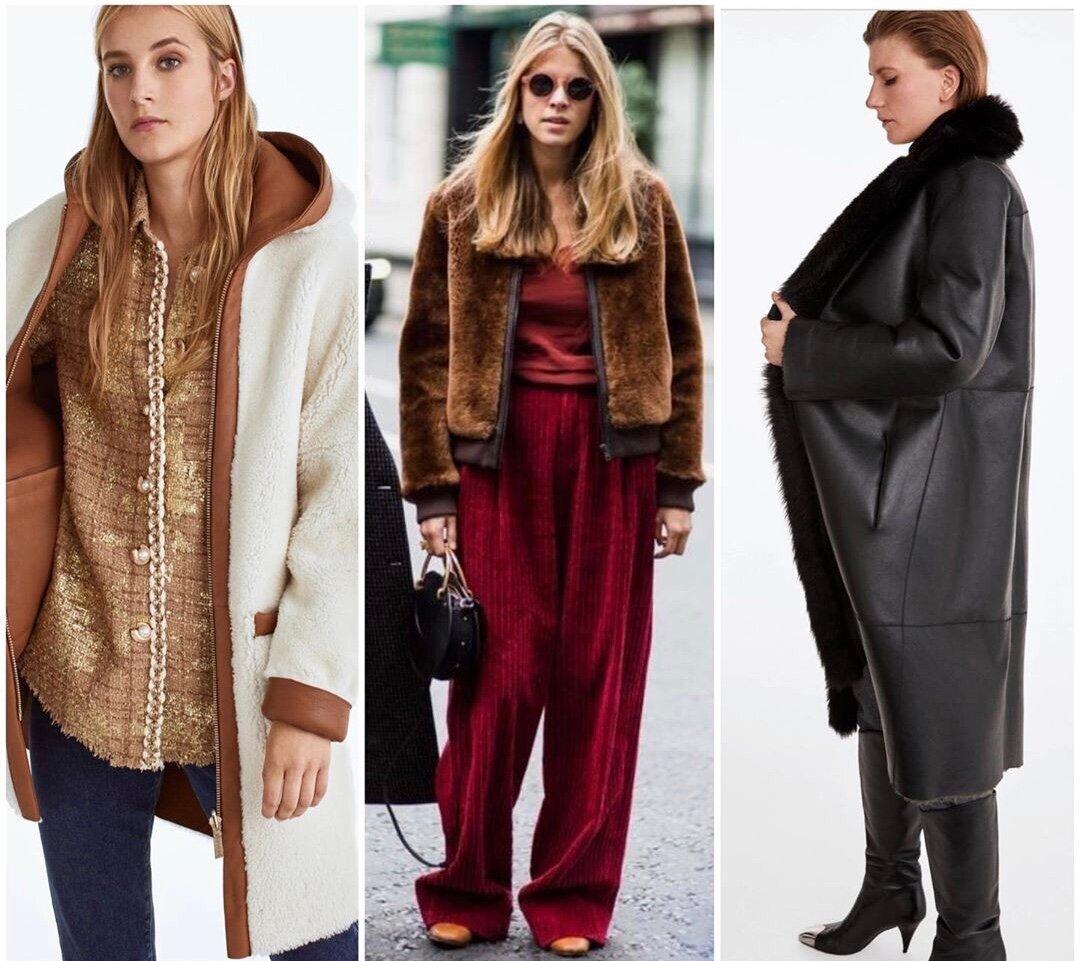 Какие дублёнки делают женщину модной зимой-2020